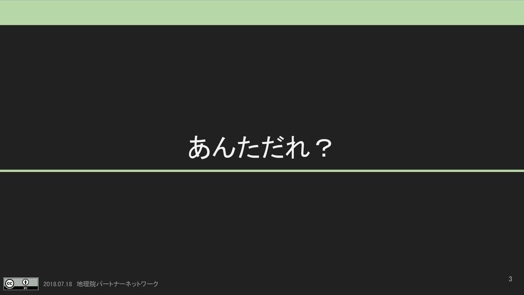 2018.07.18 地理院パートナーネットワーク あんただれ? 3