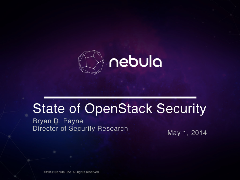 ©2014 Nebula, Inc. All rights reserved. State o...