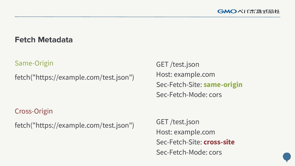 "89 Fetch Metadata fetch(""https://example.com/te..."