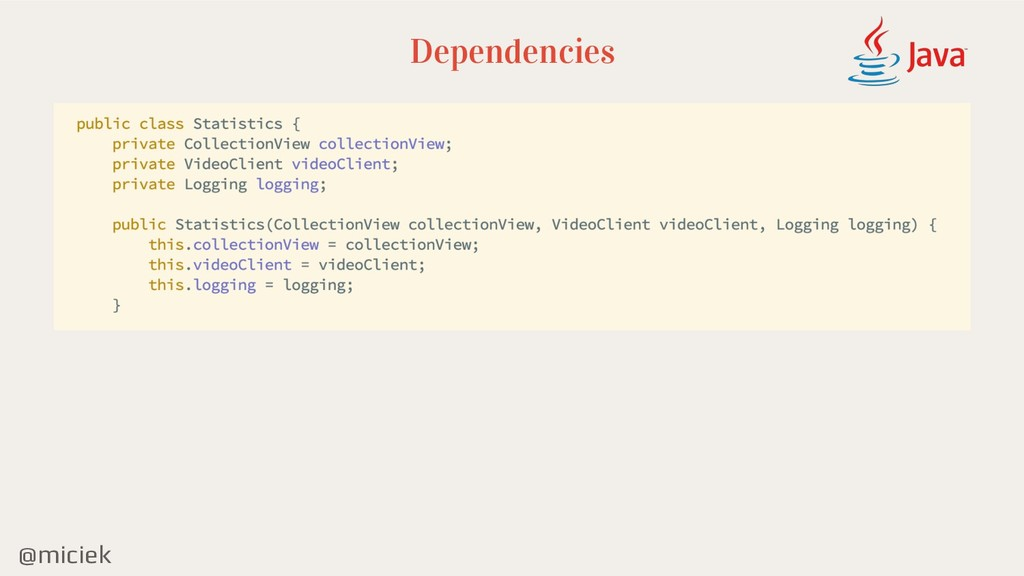 @miciek Dependencies