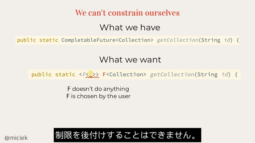@miciek We can't constrain ourselves What we ha...