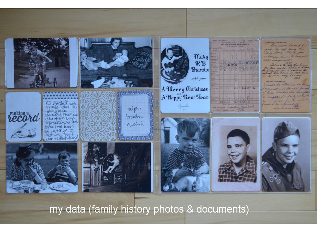 my data (family history photos & documents)