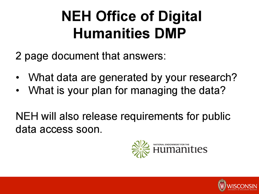 NEH Office of Digital Humanities DMP 2 page doc...