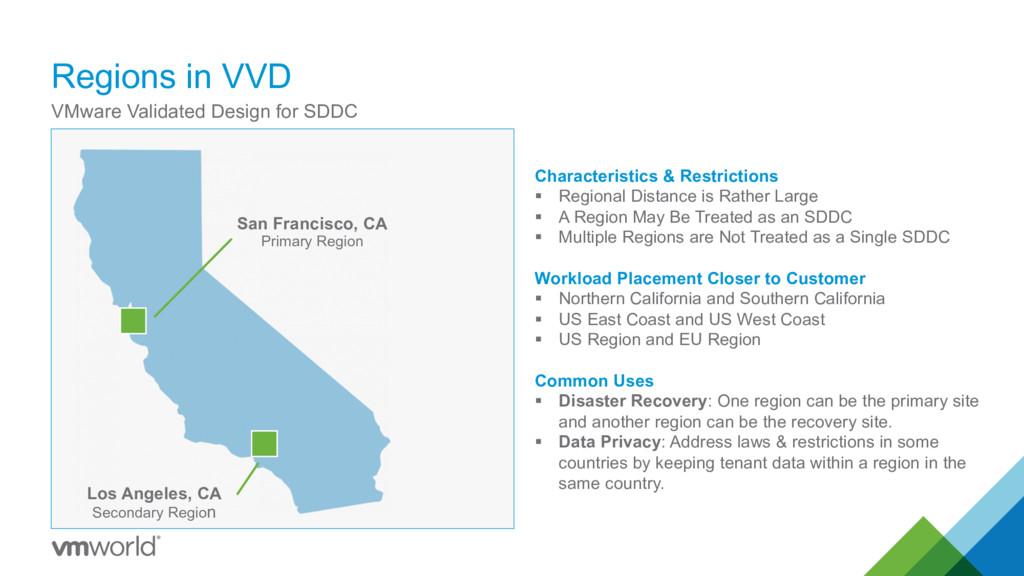 Regions in VVD VMware Validated Design for SDDC...