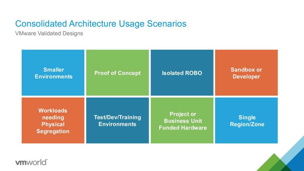 Consolidated Architecture Usage Scenarios VMwar...