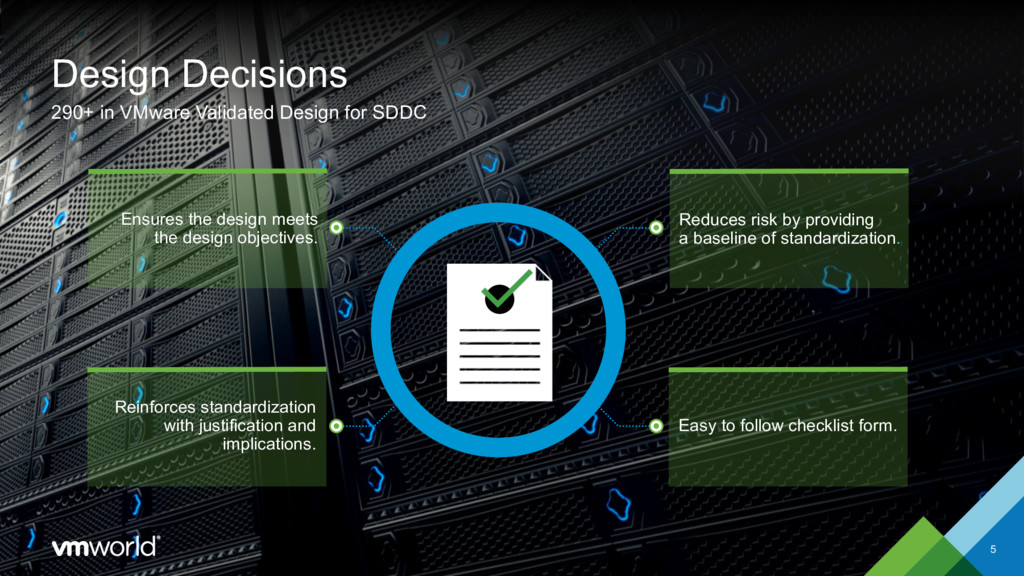 Design Decisions 5 290+ in VMware Validated Des...