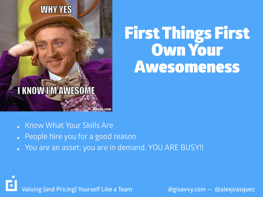 First Things First Own Your Awesomeness digisa...