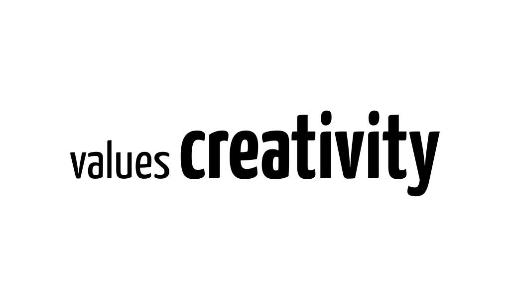 values creativity