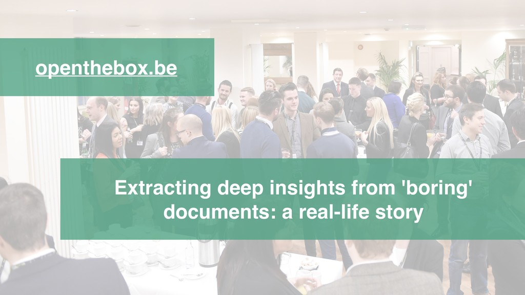 openthebox.be Extracting deep insights from 'bo...