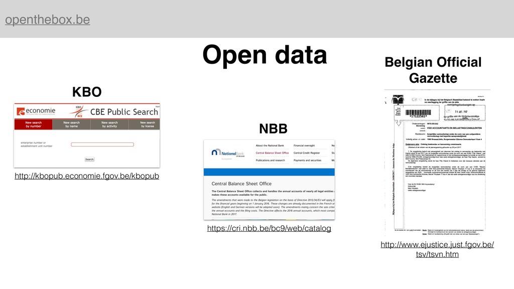 openthebox.be Open data KBO NBB Belgian Official...