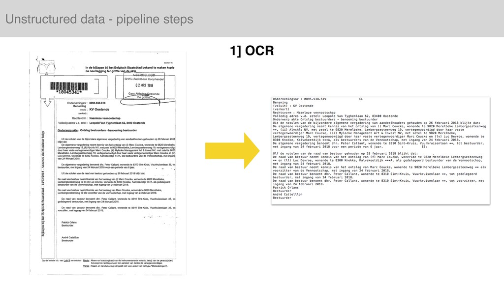 Unstructured data - pipeline steps 1] OCR