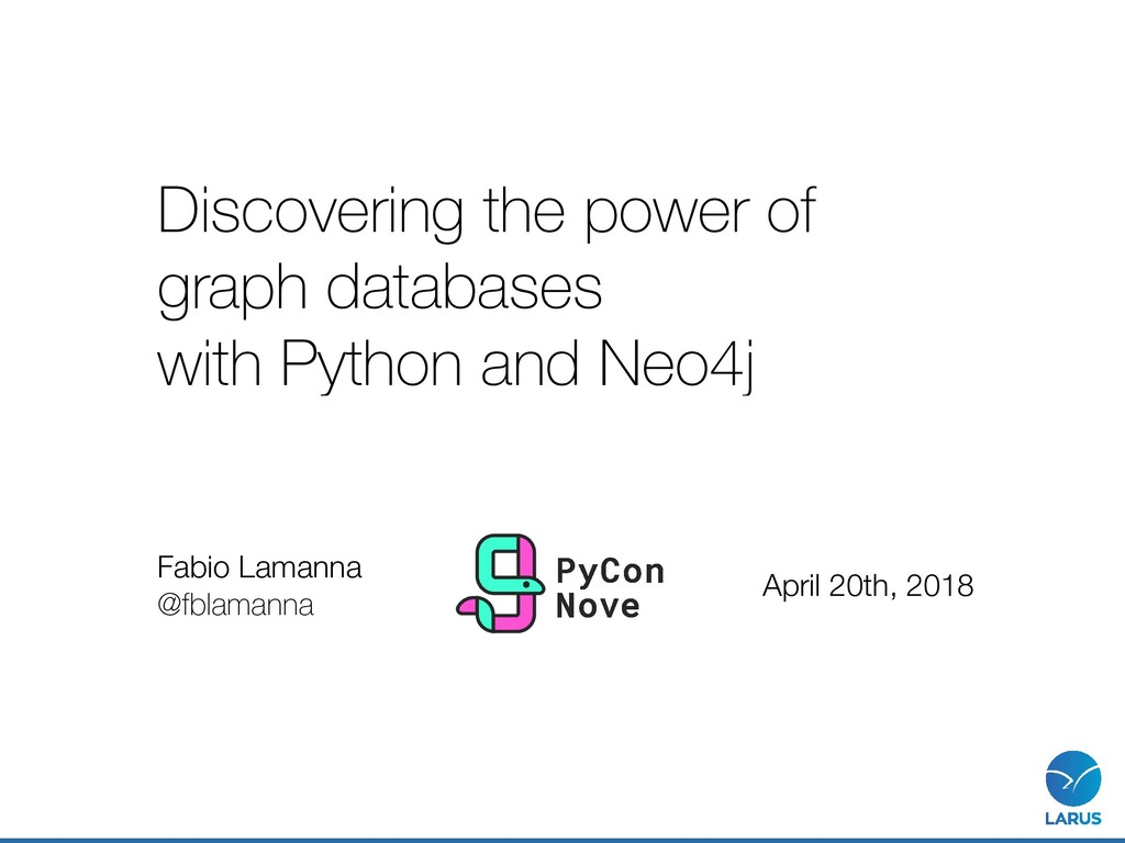 Discovering the power of graph databases with P...