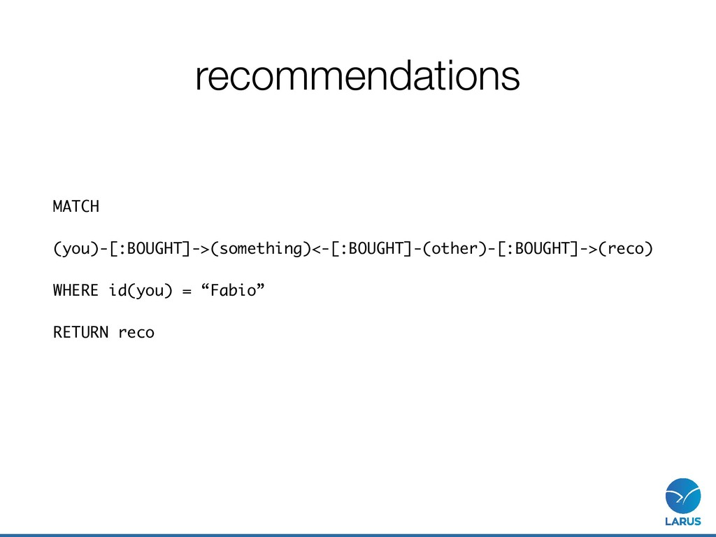 recommendations MATCH (you)-[:BOUGHT]->(somethi...