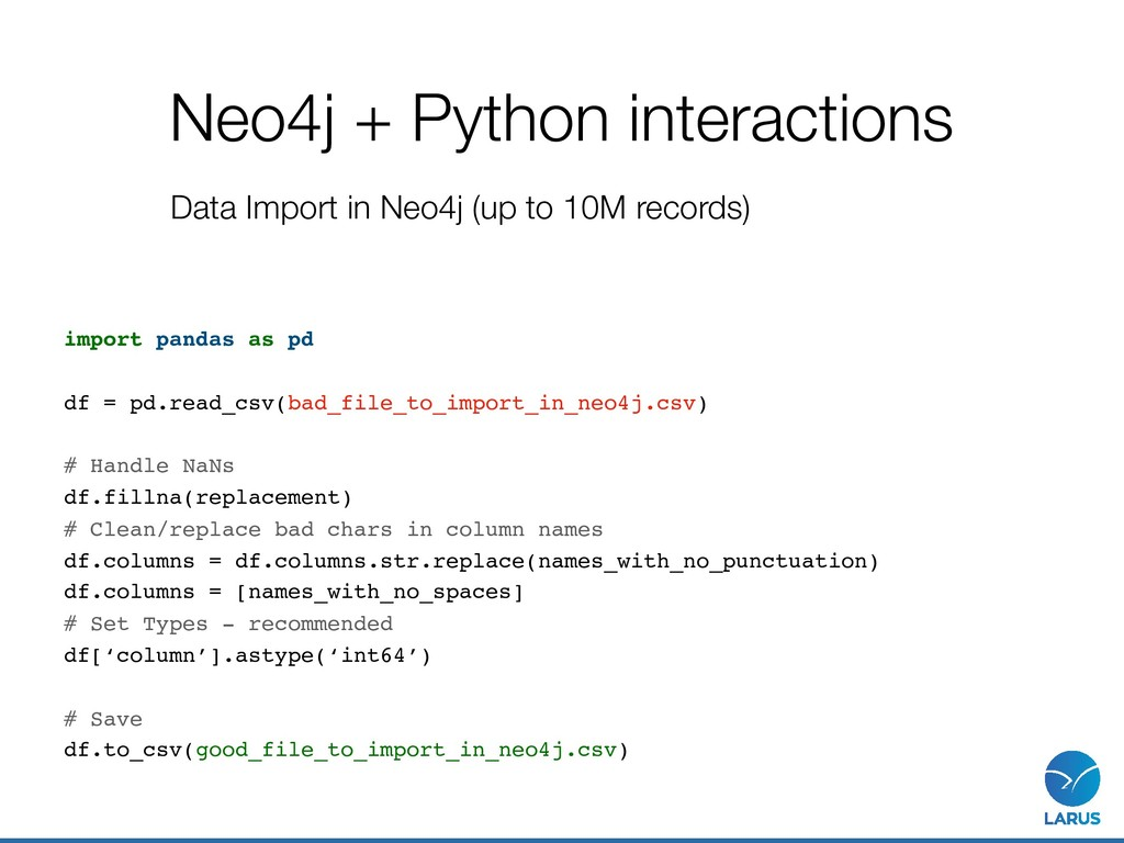Neo4j + Python interactions import pandas as pd...