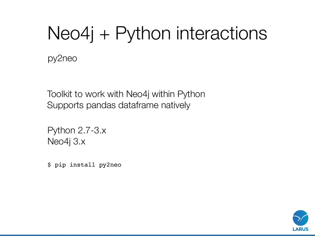 Neo4j + Python interactions py2neo Python 2.7-3...