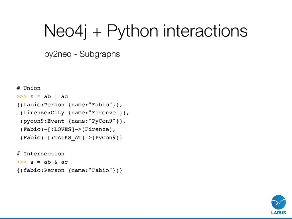 Neo4j + Python interactions py2neo - Subgraphs ...