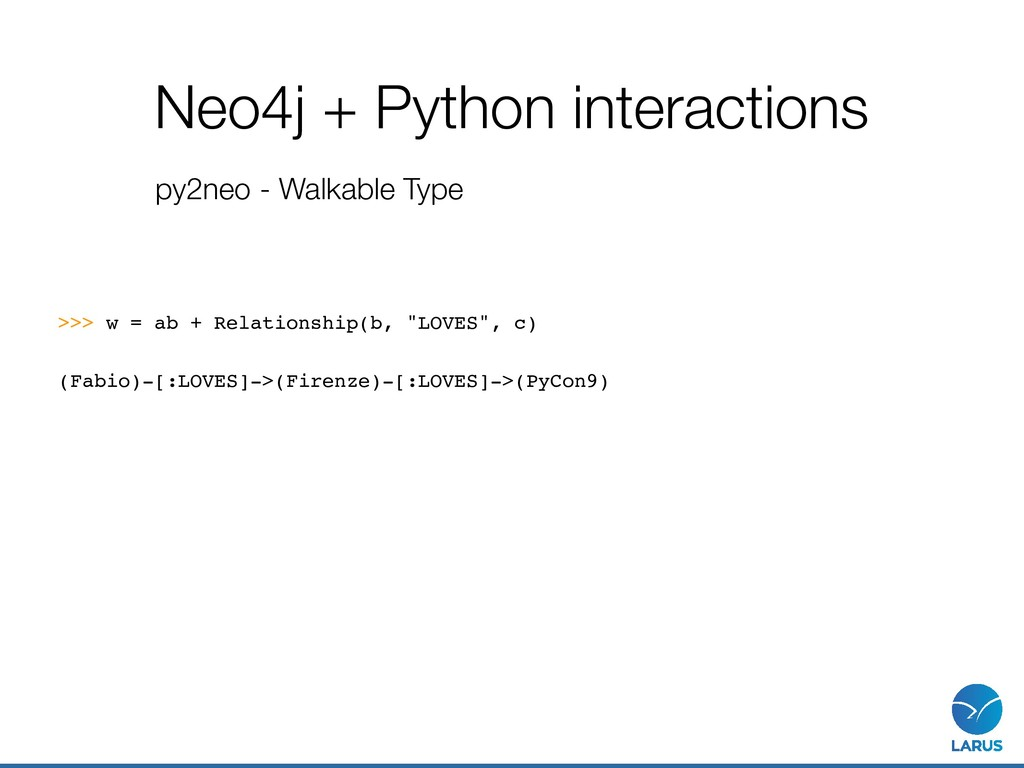 Neo4j + Python interactions py2neo - Walkable T...
