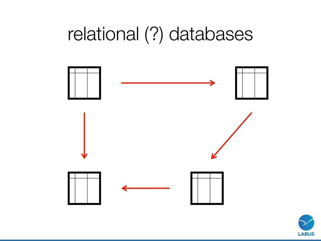 relational (?) databases
