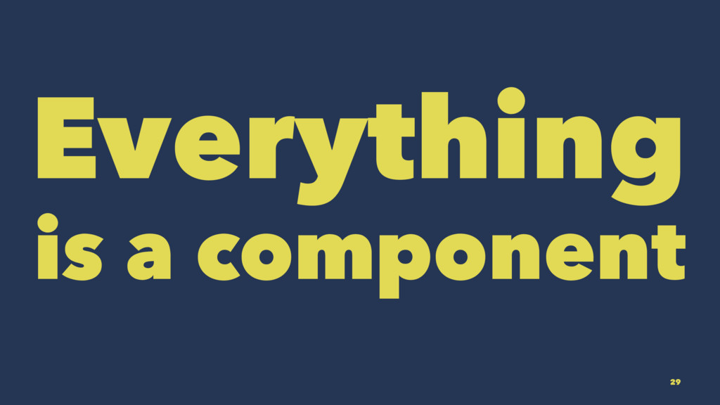 Everything is a component 29
