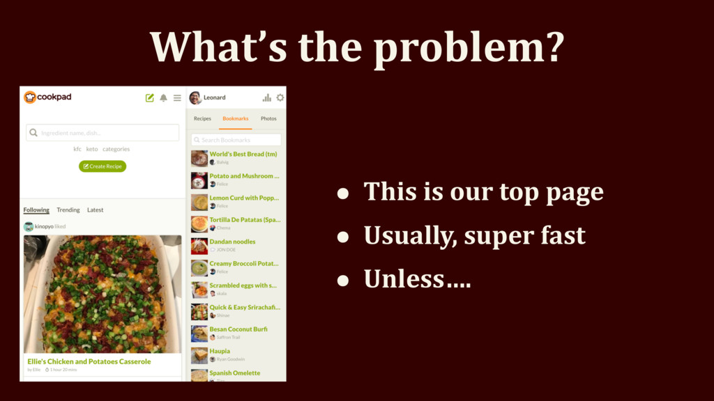 What's the problem? • This is our top page • Us...