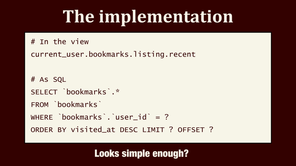 The implementation # In the view current_user.b...
