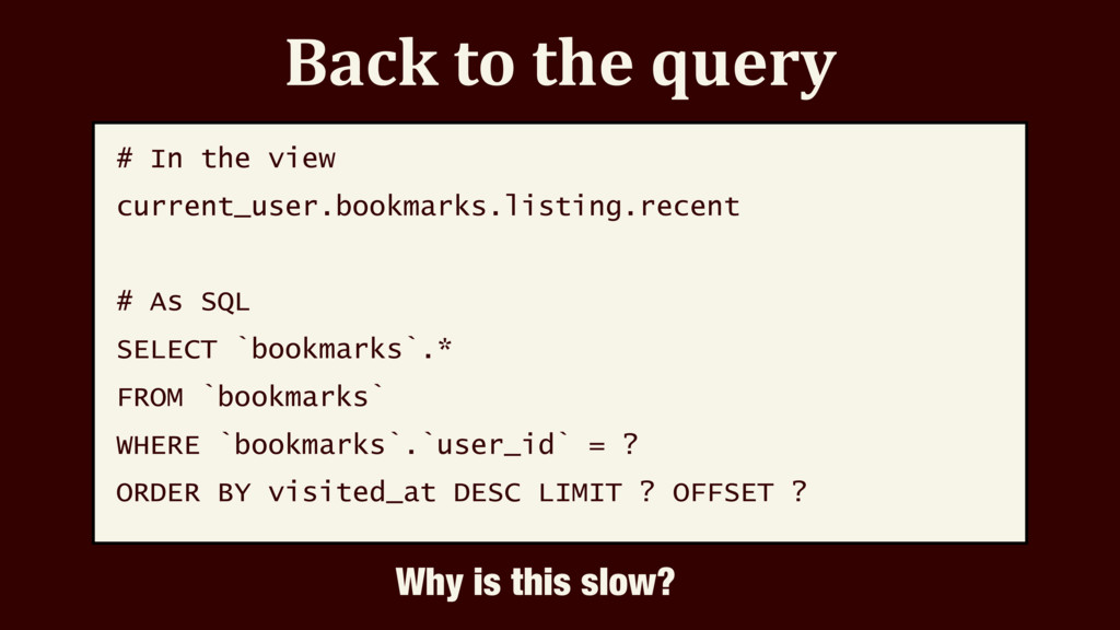 Back to the query # In the view current_user.bo...