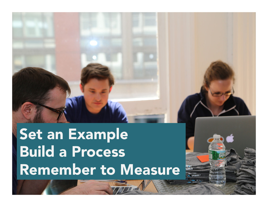 Set an Example Build a Process Remember to Meas...