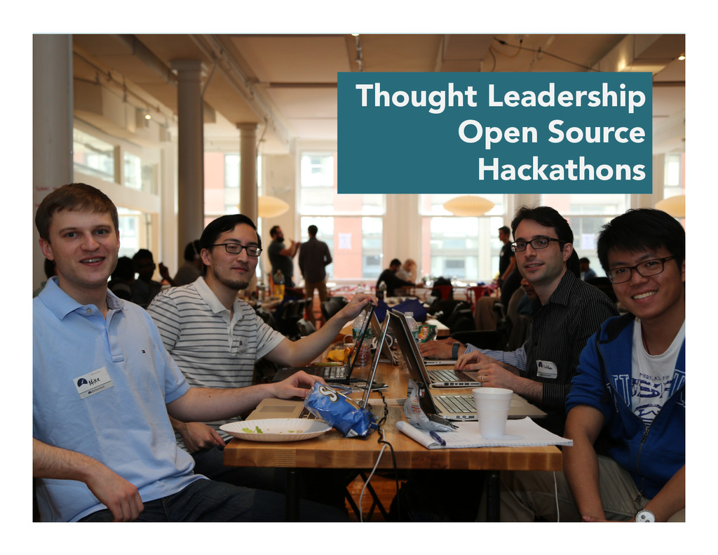 Thought Leadership Open Source Hackathons