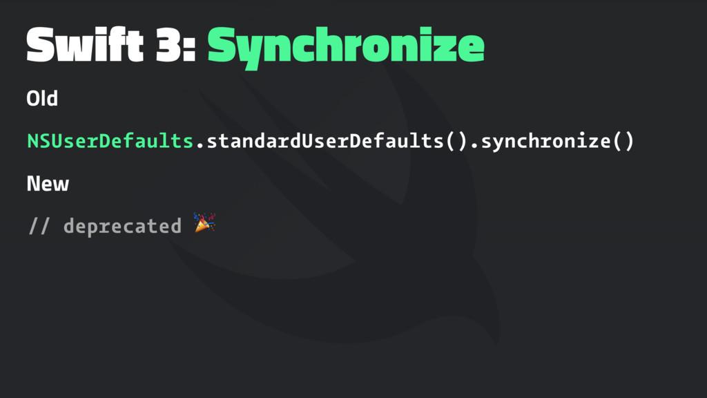 Swift 3: Synchronize Old NSUserDefaults.standar...