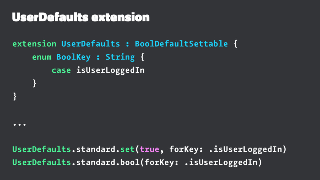 UserDefaults extension extension UserDefaults :...