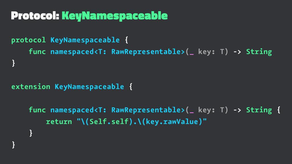 Protocol: KeyNamespaceable protocol KeyNamespac...