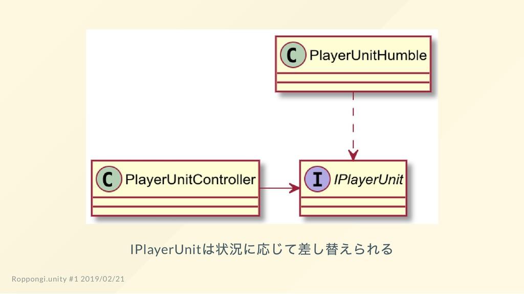 IPlayerUnit は状況に応じて差し替えられる Roppongi.unity #1 20...