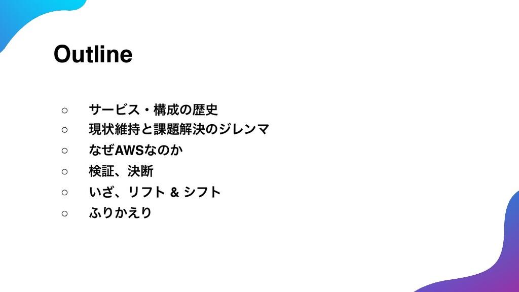 Outline ○ αʔϏεɾߏͷྺ ○ ݱঢ়ҡͱ՝ղܾͷδϨϯϚ ○ ͳͥAWSͳͷ...