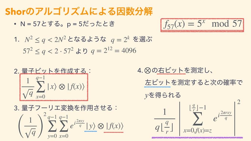 • N = 57ͱ͢Δɻp = 5ͩͬͨͱ͖ 1. ɹɹɹɹɹɹɹͱͳΔΑ͏ͳɹɹɹɹΛબͿ...