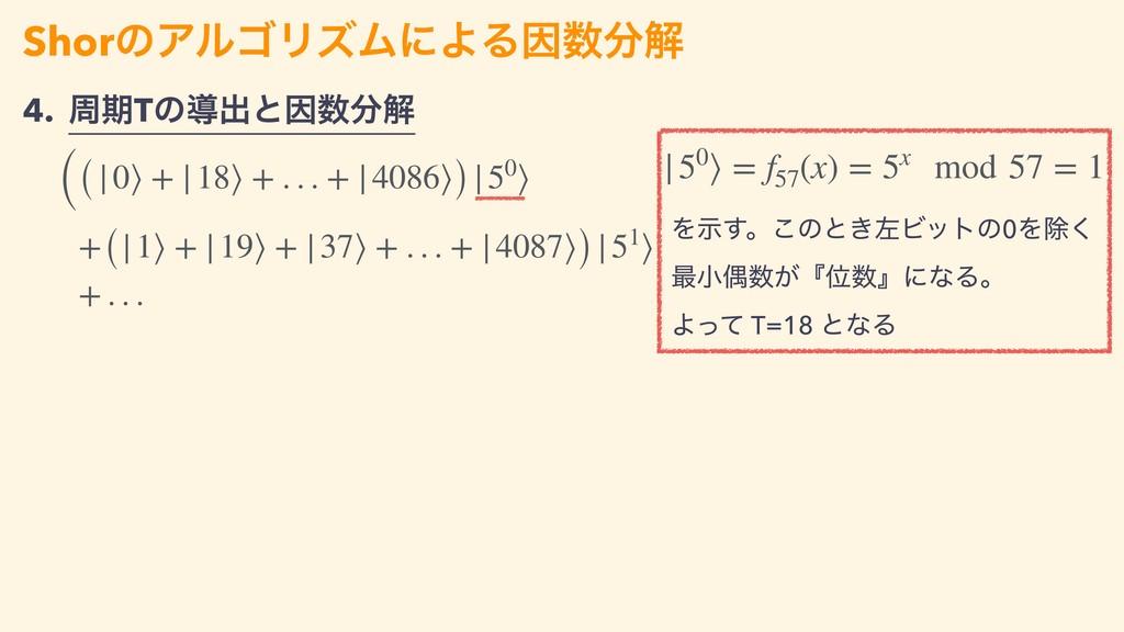 Λࣔ͢ɻ͜ͷͱ͖ࠨϏοτͷ0Λআ͘ ࠷খۮ͕ʰҐʱʹͳΔɻ Αͬͯ T=18 ͱͳΔ S...