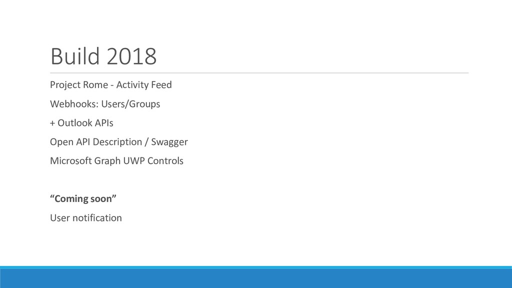 Build 2018 Project Rome - Activity Feed Webhook...