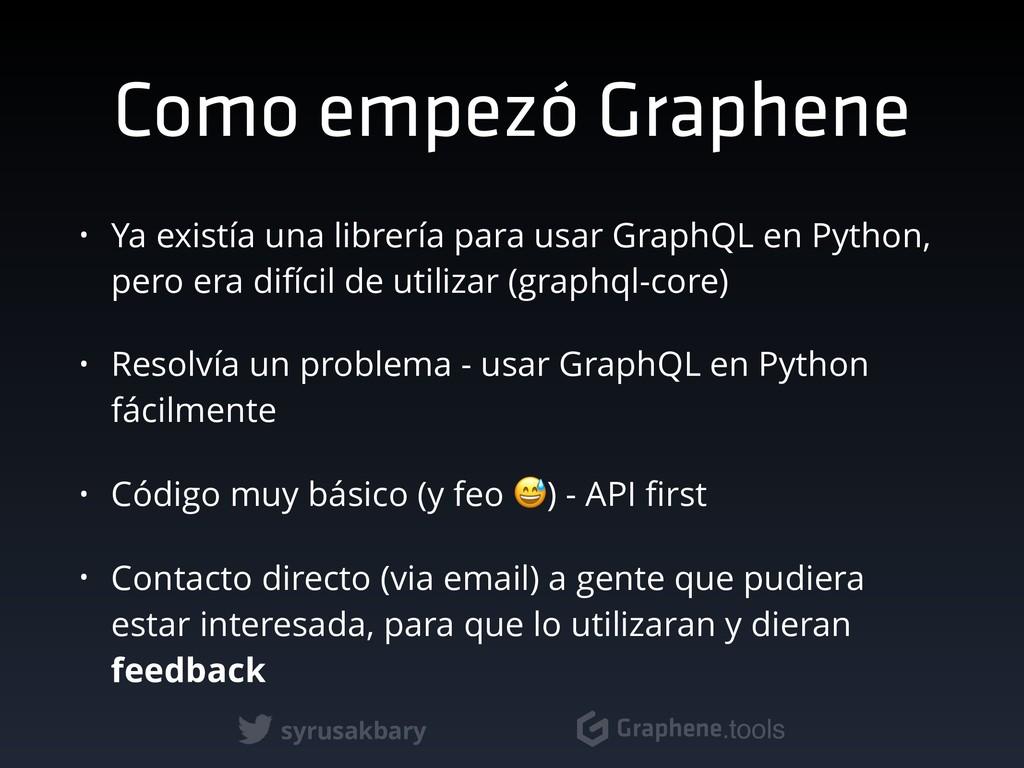 syrusakbary Graphene.tools Como empezó Graphene...