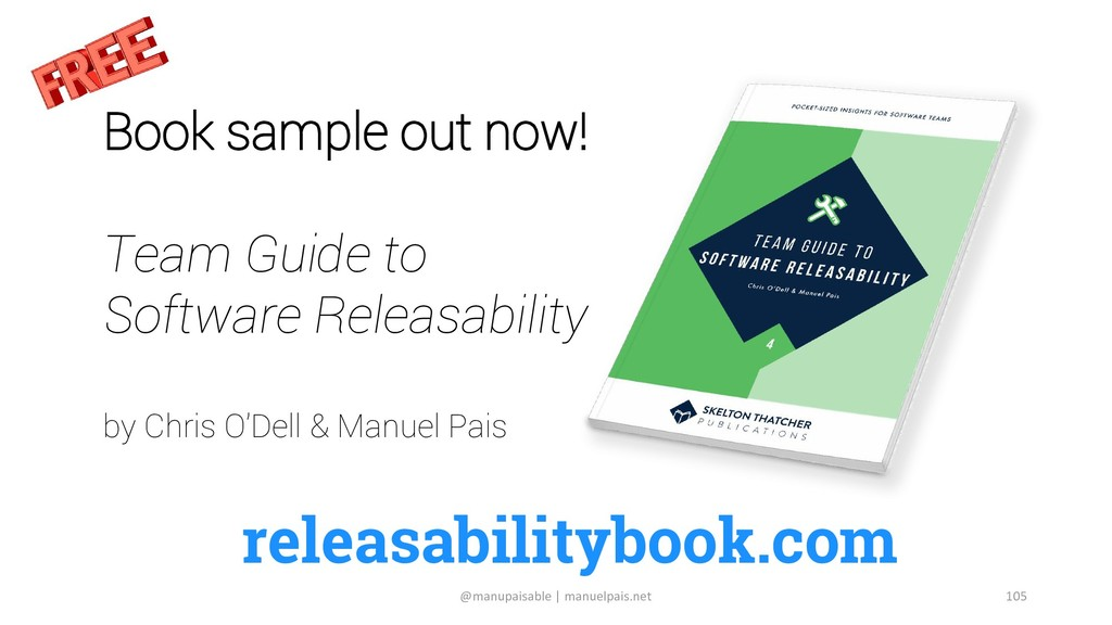 releasabilitybook.com Book sample out now! Team...