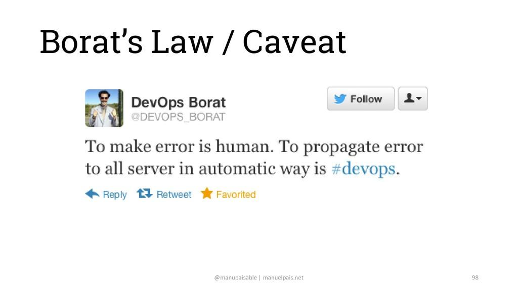 Borat's Law / Caveat @manupaisable | manuelpais...