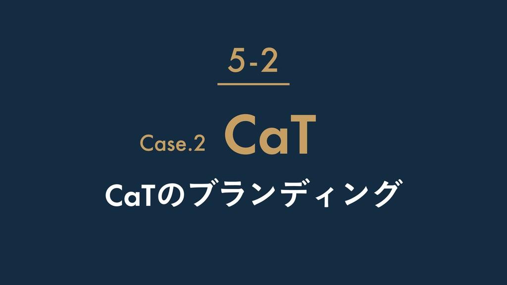 CaTͷϒϥϯσΟϯά CaT 5-2 Case.2