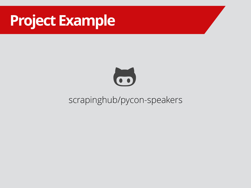 scrapinghub/pycon-speakers Project Example