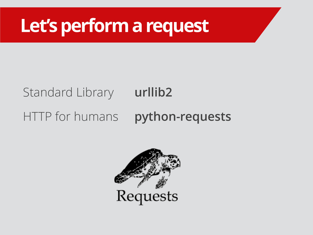 Standard Library HTTP for humans Let's perform ...