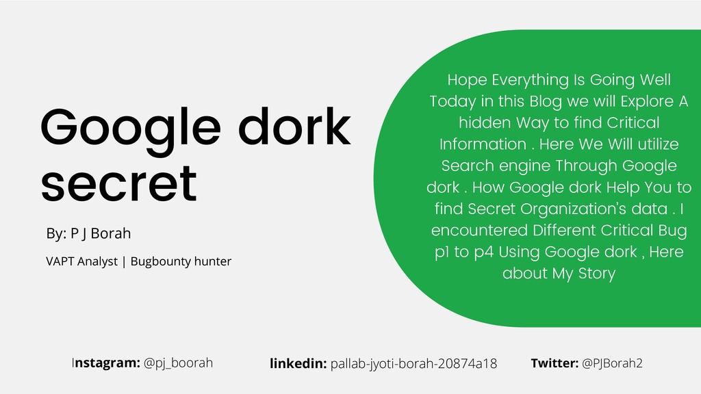 Google dork secret Hope Everything Is Going Wel...