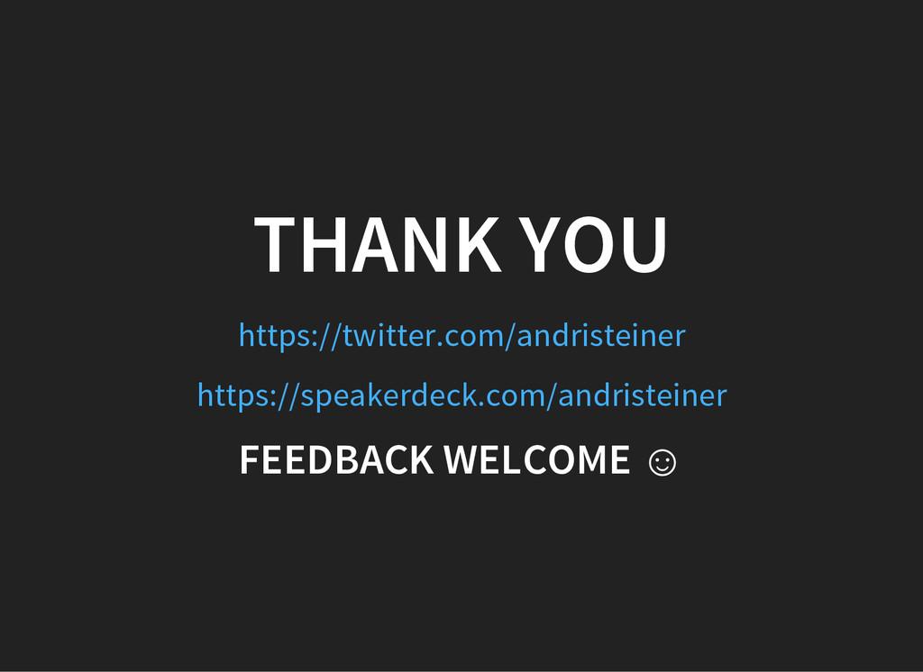 THANK YOU https://twitter.com/andristeiner http...