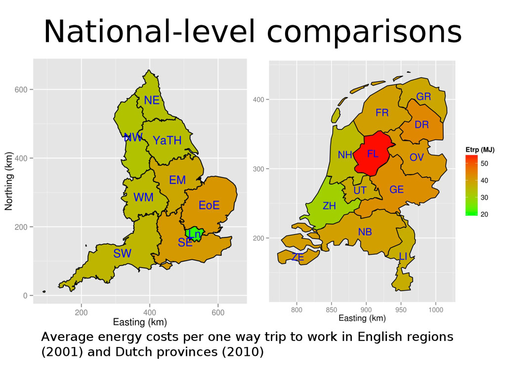 National-level comparisons Average energy costs...