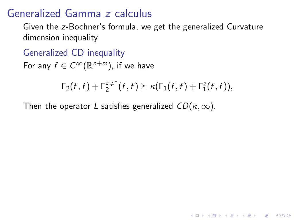 Generalized Gamma z calculus Given the z-Bochne...