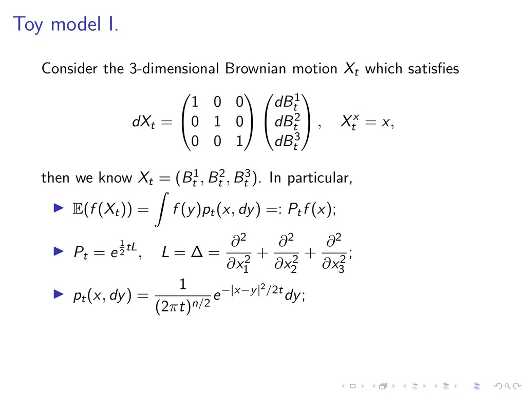 Toy model I. Consider the 3-dimensional Brownia...