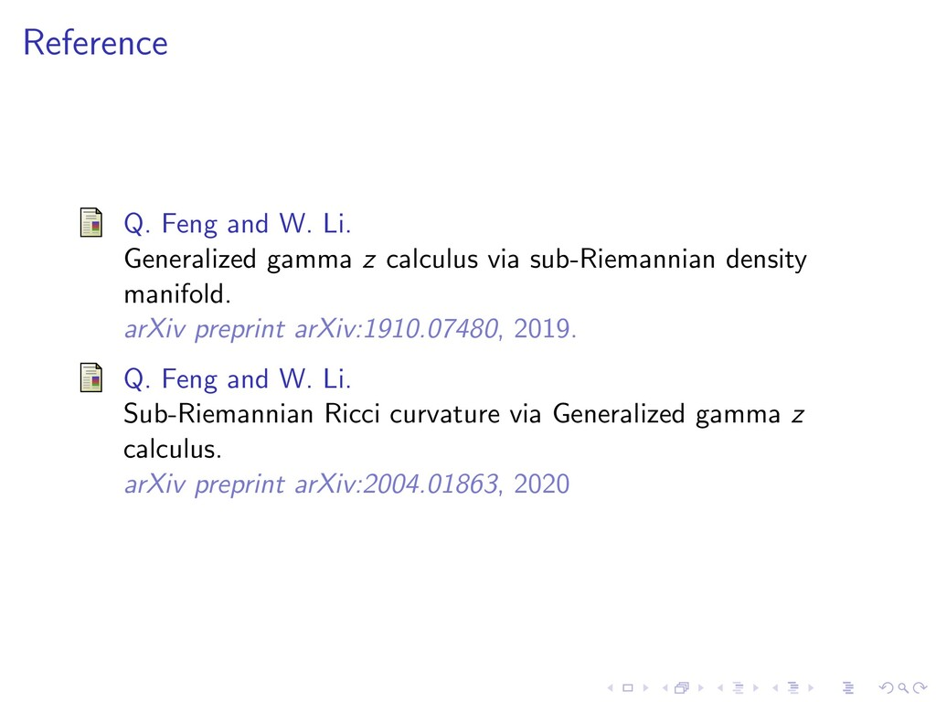 Reference Q. Feng and W. Li. Generalized gamma ...