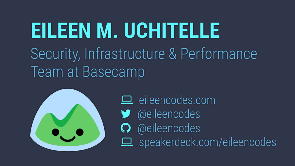 EILEEN M. UCHITELLE Security, Infrastructure & ...