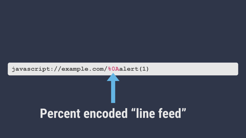 "Percent encoded ""line feed"" javascript://exampl..."